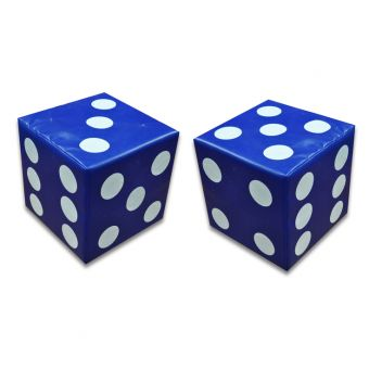 Soft Play Set of Blue Dice ( 2 off )