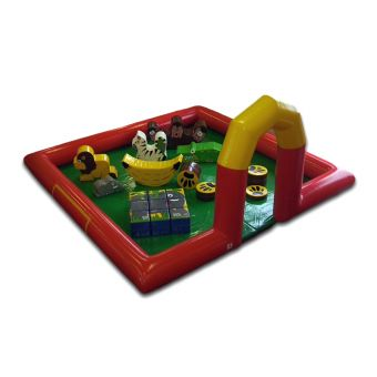 5m x 5m Inflatable surround with mats, fan & Jungle Soft play package