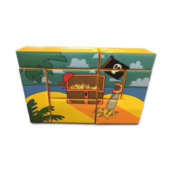 Soft Play Pirate Treasure Chest Puzzle Block