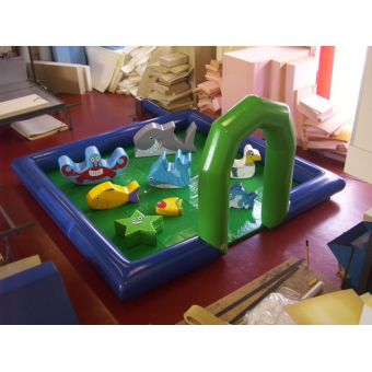 5m x 5m Inflatable surround with mats, fan & ocean soft play package