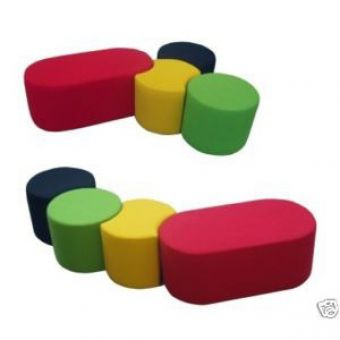 Soft Play Modular Cylinders Seat Set