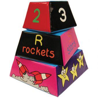 Soft Play Space Pyramid Blocks