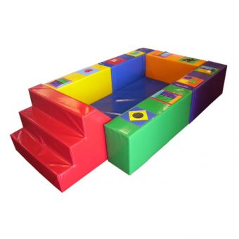 Soft Play Standard Steps Slide Ball Pond