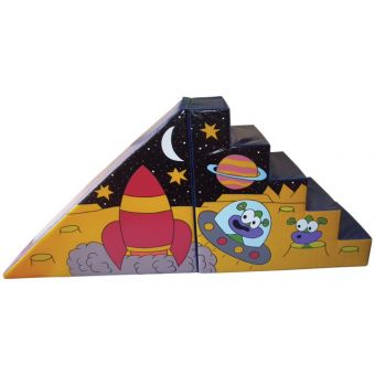 Soft Play Giant Space Steps & Slide