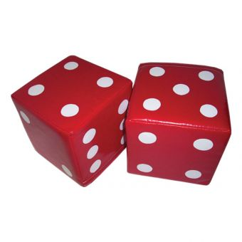 Soft Play Set of Red Dice