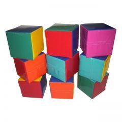Soft Play 9 Plain Cubes