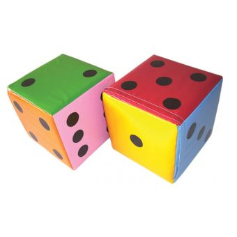 Soft Play Set of Multi-Coloured Dice