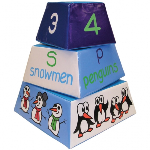 Soft Play Polar Pyramid Blocks