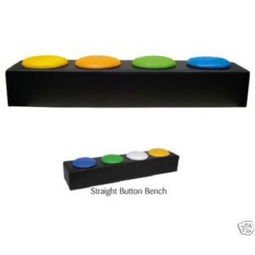 Soft Play Nursery Straight Button Bench