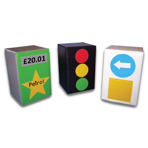 Soft Play Petrol Pump, Traffic Lights & Bollard Set