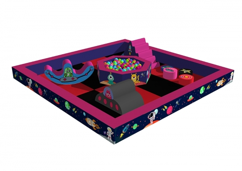 Outer space time play pit (5m x 5m)